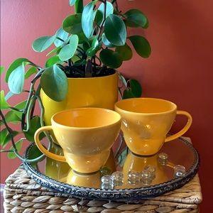 2 Crate&Barrel yellow mugs by Camilla Engdahl